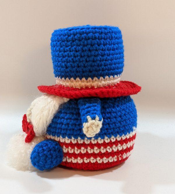 Patriotic Crochet Gnome Decoration