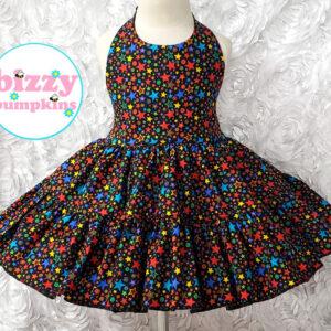 Colorful Stars Halter Dress
