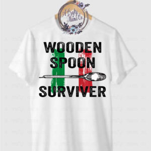 wooden spoon survivor w italian flag