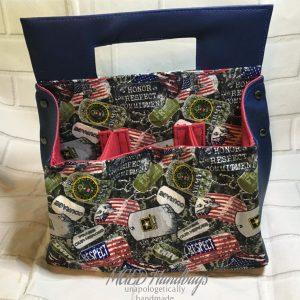Dog Tags Army 6pack Backyard Caddy Handmade by MGED Handbags,