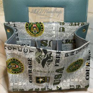 Army Backyard 6pack Caddy, Handmade by MGED Handbags