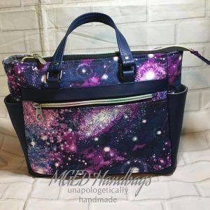 Super Galaxy Rossatron Handbag, Comes in 2 Sizes, Completely Customize Your Bag, Handmade by MGED Handbags