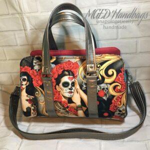 Marcel Barrel Handbag with Adjustable Removable Shoulder Strap Handmade by MGED Handbags
