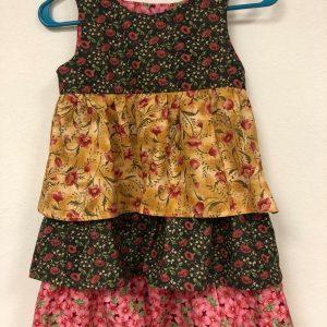 Three tiered sleeveless dress