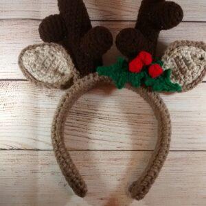 Reindeer Holiday Antler Headband