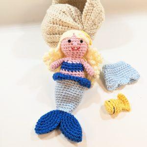 Blue-Mermaid Crochet Play Set