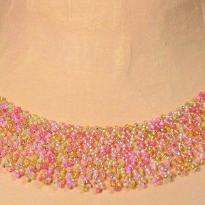 Abracadabra Beaded Collar by Noveenna