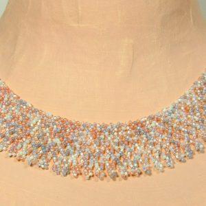 Moonstone Beaded Collar by Noveenna