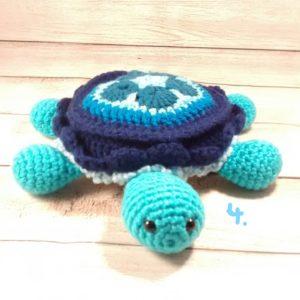 Plush Crochet Turtle Toy-Four
