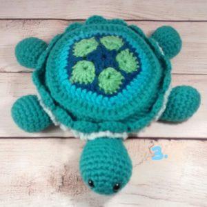 Crochet Turtle Plush Toy-Three