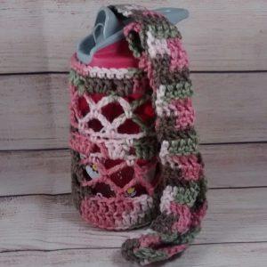 Child's Pink Camo Bottle Cozy