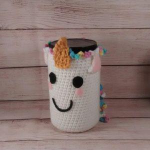 Unicorn Pencil Jar Cover