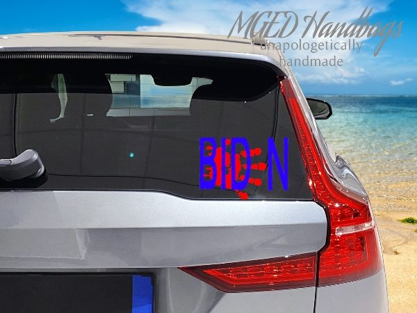 Bloody Hand Biden Window Decal, Choose Your Size, Shipping Included, Handmade by MGED Handbags