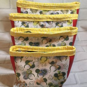 Luna Pouches Set of 4 Made With Custom Print Fabric Handmade by MGED Handbags