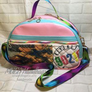 90210 Classic Handmade Purse, Made With Custom Fabric, Handmade by MGED Handbags