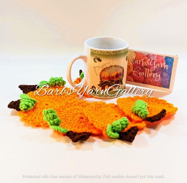 Pumpkin Coaster Set Decoration
