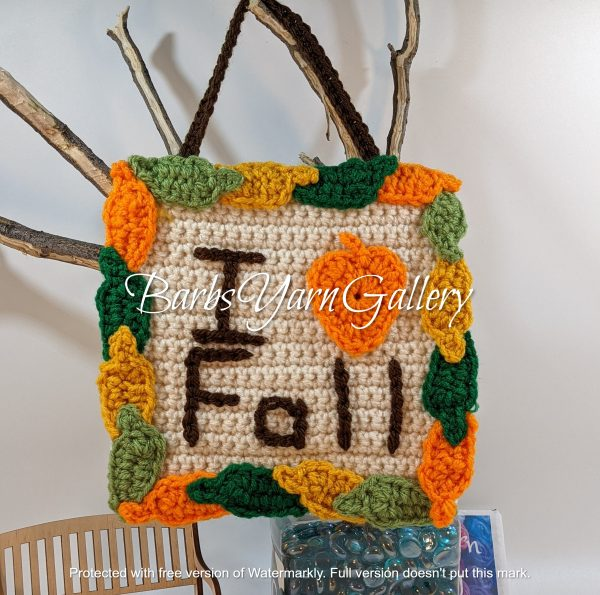 I Love Fall Sign