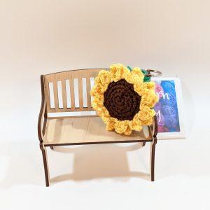 Mini Sunflower Plush Keyring