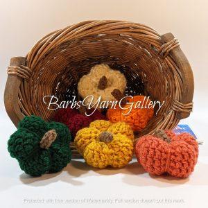 Crochet Mini Pumpkin Set