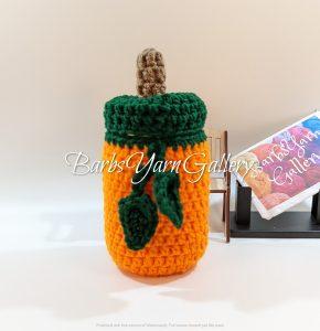 Crochet Pumpkin Pint-Jar Cover