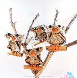 Cinnamon Crochet Owl Set