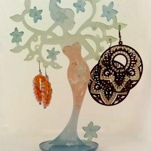 wood nymph earring holder