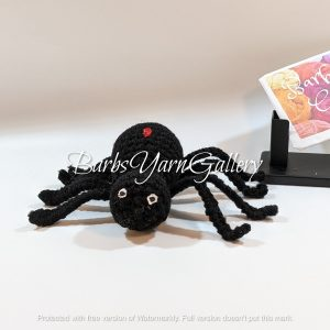 Halloween Black Crochet Spider