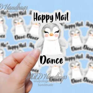 Happy Mail Dance, Print Your Own Stickers, Digital Download, SVG PNG JPG, Handmade by MGEDHandbags