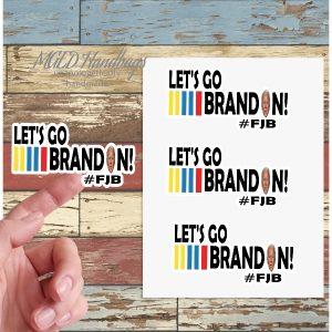 Let's Go Brandon Biden, Sticker Sheet of 19, Handmade by MGEDHandbags