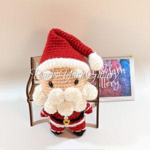 Plush Santa Crochet Figure