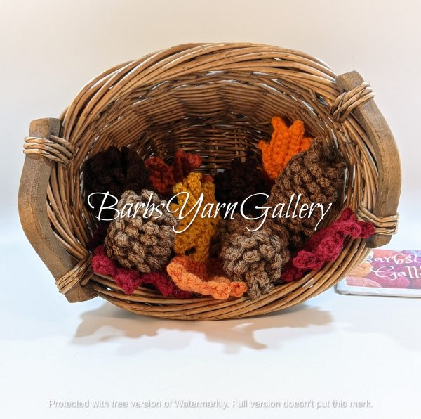 Fall Pine-Cones With Leaves