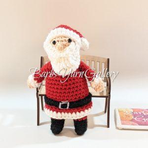 Vintage Santa Crochet Figure