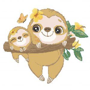Sloth Baby and Mama
